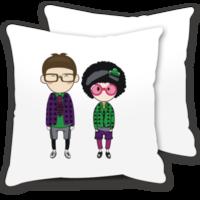 情人节礼物:可爱眼镜情侣-情侣抱枕