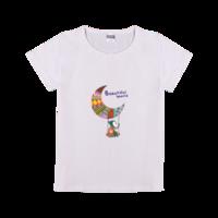 童年时光 美丽世界-时尚童装修身T恤