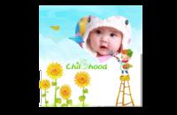 童画世界(小时候,可替换相片)-8x8印刷单面水晶照片书
