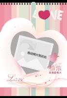 LOVE 爱的浪漫 (结婚 情侣 周年纪念珍藏礼物)-A4挂历