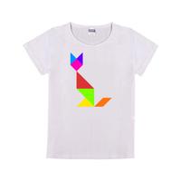 七巧板wuli狐狸童装纯棉白色T恤