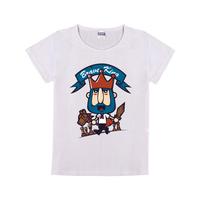 勇敢的王母版-童装纯棉白色T恤