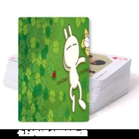 卡通可爱兔斯基扑克牌-双面定制扑克牌