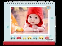 可爱小男孩专属台历 简洁 卡通 汽车-10寸双面印刷台历