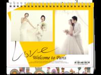 爱情见证(图片可换)写真婚纱情侣纪念-8寸单面印刷台历
