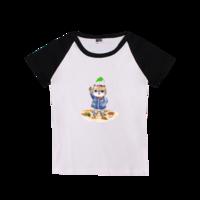 可爱猫咪-时尚童装插肩T恤