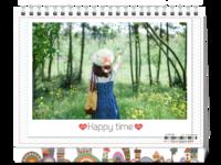 幸福时光 happy time 最美爱的记忆(全家福 爱情 青春 亲子等通用模板)-8寸双面印刷台历
