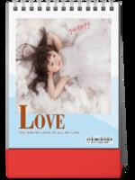 LOVE 简洁 儿童生活写真集 内页精心设计 图文可替换-8寸竖款双面