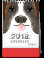 2018狗年卡通宝贝照片台历-8寸竖款单面台历