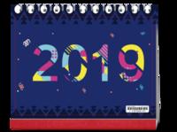 12星座 清新 2019#-10寸单面印刷台历