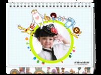 快乐的小宝贝-宝宝成长足迹-手拉手小动物装饰-8寸单面印刷台历