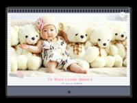 韩式爱的记忆童年时光故事-A3横款挂历
