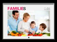 Our Families 我们一家(全家福) 高档原创欧美经典精品自由DIY-A3横款挂历