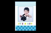 It's a boy(这是一个男孩 可爱小熊猫 照片可换)-8x12印刷单面水晶照片书20p