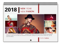 NEW FASION 新时尚(个人写真桌面台历) 高档原创欧美经典精品自由DIY-A3横款挂历
