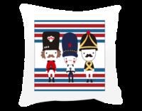 复古英伦潮流个性士兵-方形个性抱枕