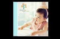 快乐之家(宝宝的成长点滴)-8x8印刷单面水晶照片书21P
