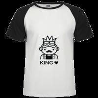 情侣T恤——king时尚插肩纯棉短袖T恤男款