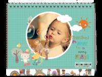 欢乐小动物(宝宝、幼儿园)-8寸双面印刷台历