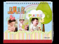 童心相伴-卡通亲子宝宝旅行纪念生日の西西呆-10寸双面印刷台历