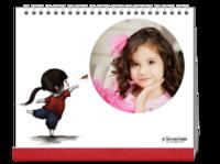 我那可爱的小公主  女孩女儿图文可改文艺气息-10寸单面印刷台历