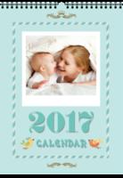 快乐的童年领地-卡通亲子宝宝旅行纪念の西西呆-A4挂历