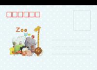 动物园游记-亲子-跟宝贝逛动物园-全景明信片(横款)套装
