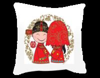 掀起你的盖头来 新婚礼物-方形个性抱枕