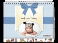 welcom baby-8寸单面印刷台历