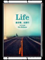 趁活着,去旅行(青春、旅行纪念册)-A4杂志册(32P)