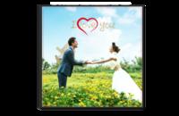 I LOVE YOU 浪漫爱情故事 我爱你 婚纱模板668-8x8单面银盐水晶照片书
