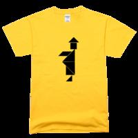 黑白七巧板僵尸僵尸舒适彩色T恤
