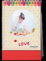 我的宝贝 亲子 儿童成长写真 幼儿园 周岁生日 图文可替换-8寸竖款单面台历