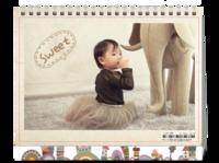 甜心宝贝-8寸双面印刷台历(微信)