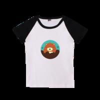 卡通图案儿童T恤-时尚童装插肩T恤