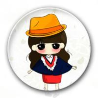 草帽小希妹妹-创意冰箱贴