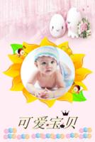 聆听可爱宝贝,亲子,爱情,家庭-8x12双面水晶印刷照片书20p