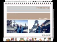 FriendShip 闺蜜与友谊 欧美经典原创高档精品自由设计-8寸单面印刷台历
