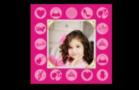芭比公主(梦想女孩)少女、亲子、闺蜜-8x8印刷单面水晶照片书