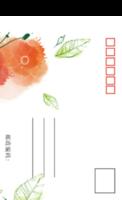 大红花-全景明信片(竖款)套装