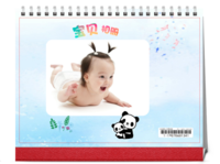 宝宝相册-8寸双月单面印刷台历(7页)