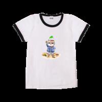可爱猫咪-时尚童装撞色T恤