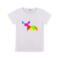 七巧板小牛童装纯棉白色T恤