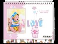 可爱邦尼熊LOVE-8寸单面印刷台历