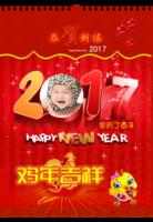 2017鸡年大吉 精品挂历-A3挂历