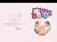 幸福baby纪念册(可自由编辑)-A4硬壳照片书24P