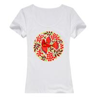 最爱民族风母版-女款纯棉白色T恤