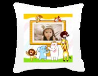 我的童话世界 七彩童年 萌娃 宝贝-短皮绒面双面抱枕