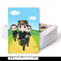 可爱的军人-双面定制扑克牌