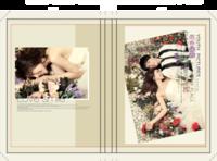 青春映画影楼风格写真集(封面照片可替换,适合情侣、婚纱照、个人写真、全家福等)-硬壳精装照片书